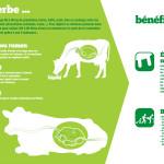 Panneau exploitant : De l'herbe aux bénéfices du lait
