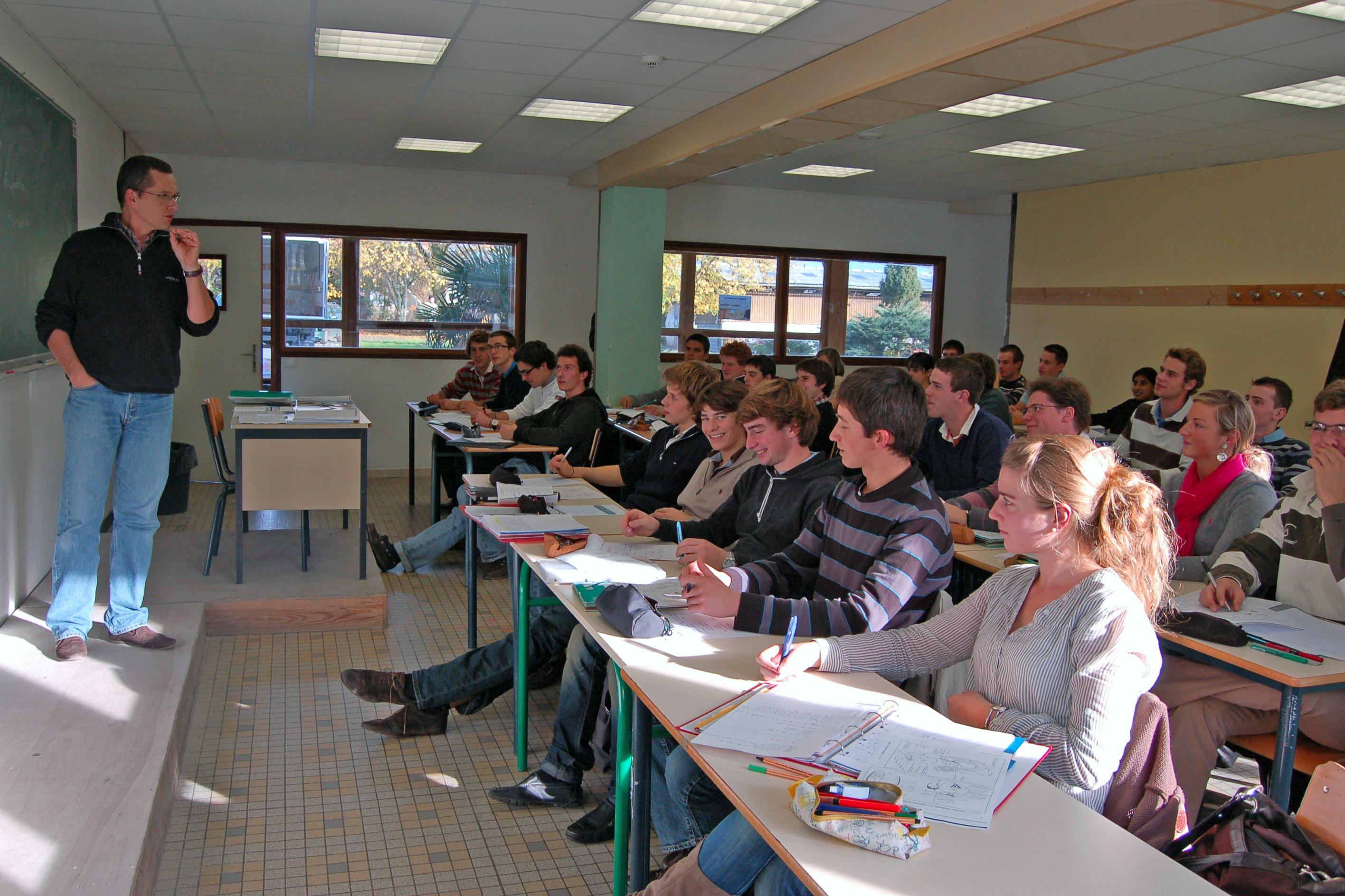 Salle de classe élèves