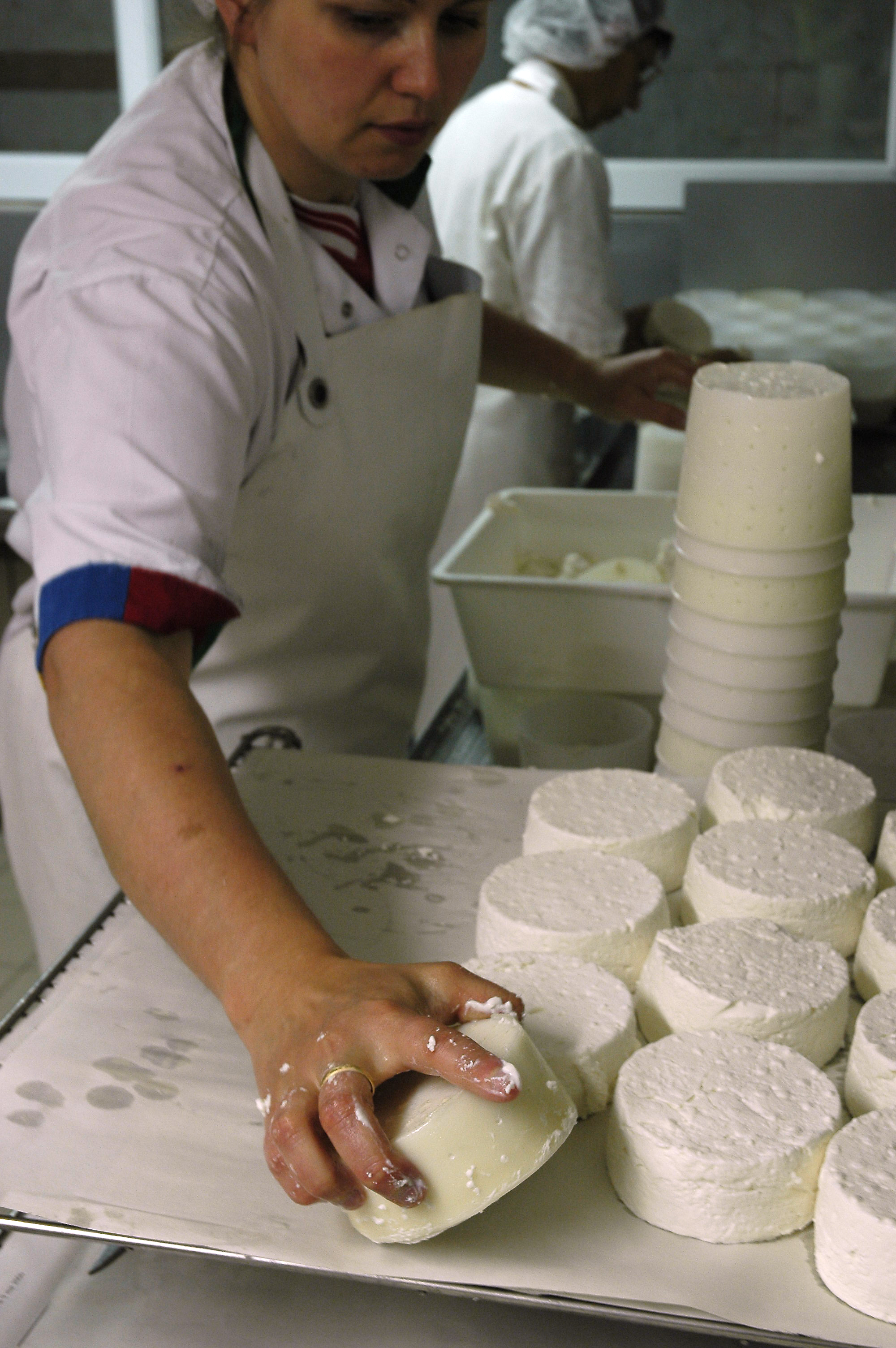 Démoulage fromages