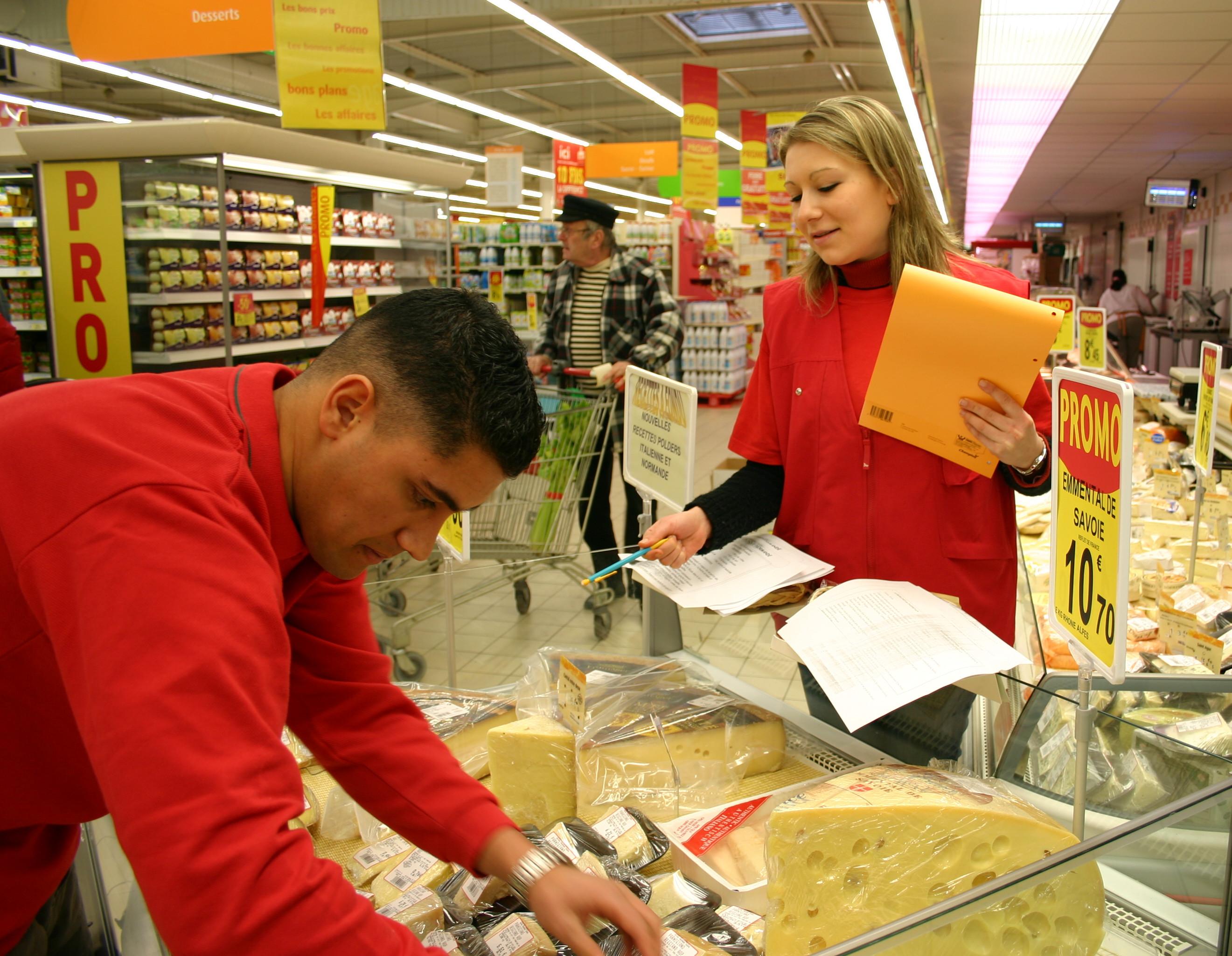promotion merchandising produits rayon supermarché