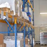 stock palettes marchandises