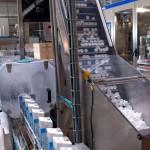 Chaine de briques de lait usine
