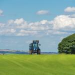 tracteur champ herbe arbre