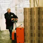 Stock emballage chariot élévateur