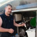 ramasseur de lait chauffeur camion