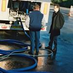 Chauffeur collecte de lait camion