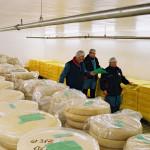 hommes et stockage de fromages