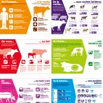Affiche des 6 panneaux 'exploitation laitière'