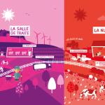 Affiche panoramique 'exploitation laitière'