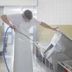 usine, nettoyage des bacs, hygiène