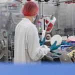 Usine, chaine, fromage, technicienne