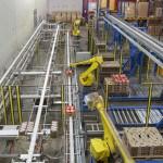 Usine, stockage, conditionnement, robot, chaine, préparation de commande