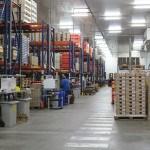 Usine, stockage, hangar, palettes