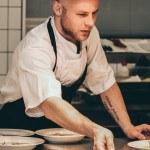 chef, préparation assiette, cuisine