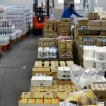 Stock de produits laitiers, Rungis, logistique