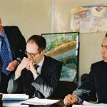 Bureau usine, directeurs, réunion