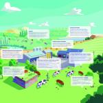 La biodiversité à la ferme, illustration, schéma